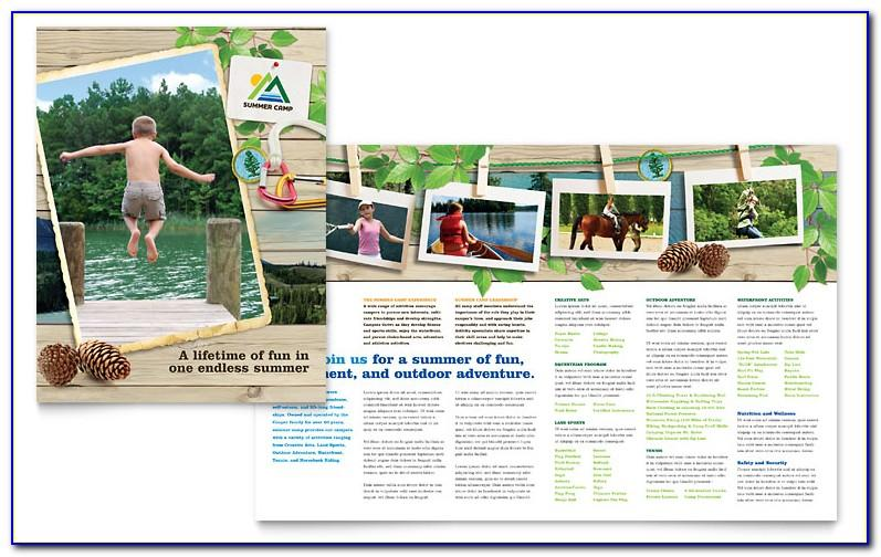 Summer Camp Brochure Template Word