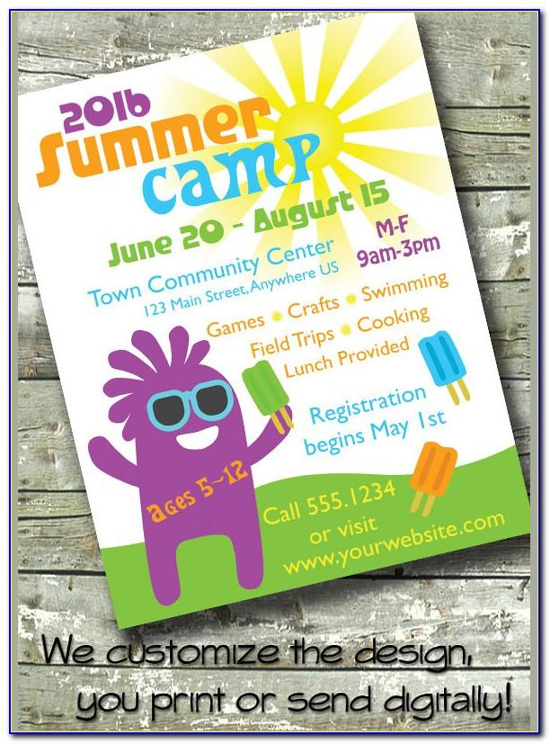 Summer Camp Flyer Template Free Download