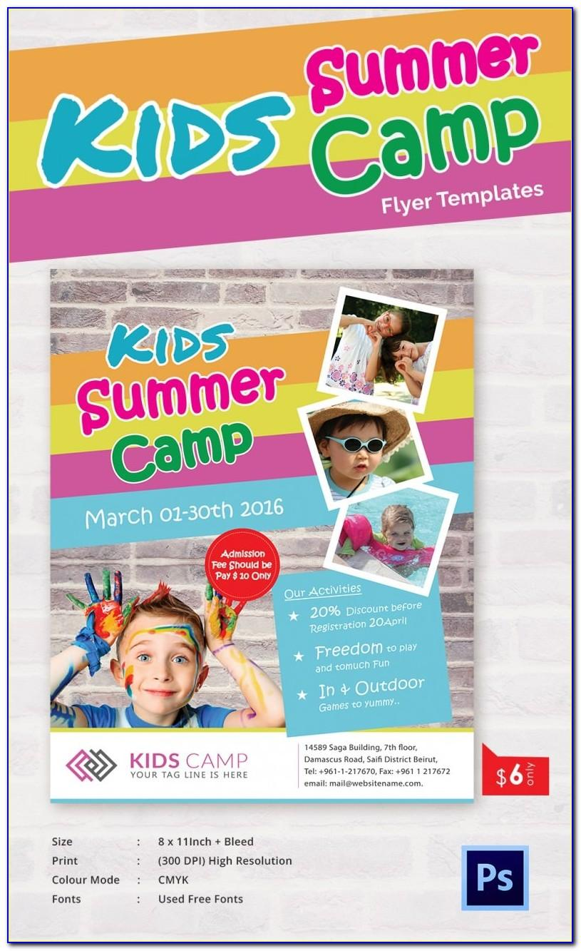 Summer Camp Flyer Template Microsoft Word