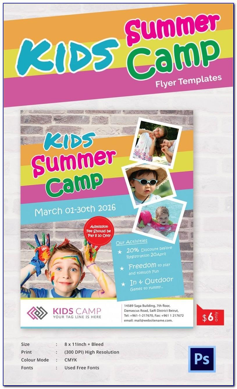 Summer Camp Flyer Template Microsoft Word