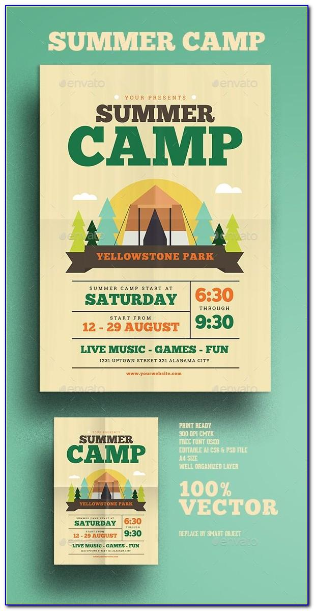 Summer Camp Flyer Template Psd