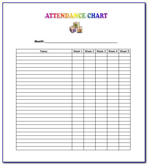Sunday School Attendance Book Template