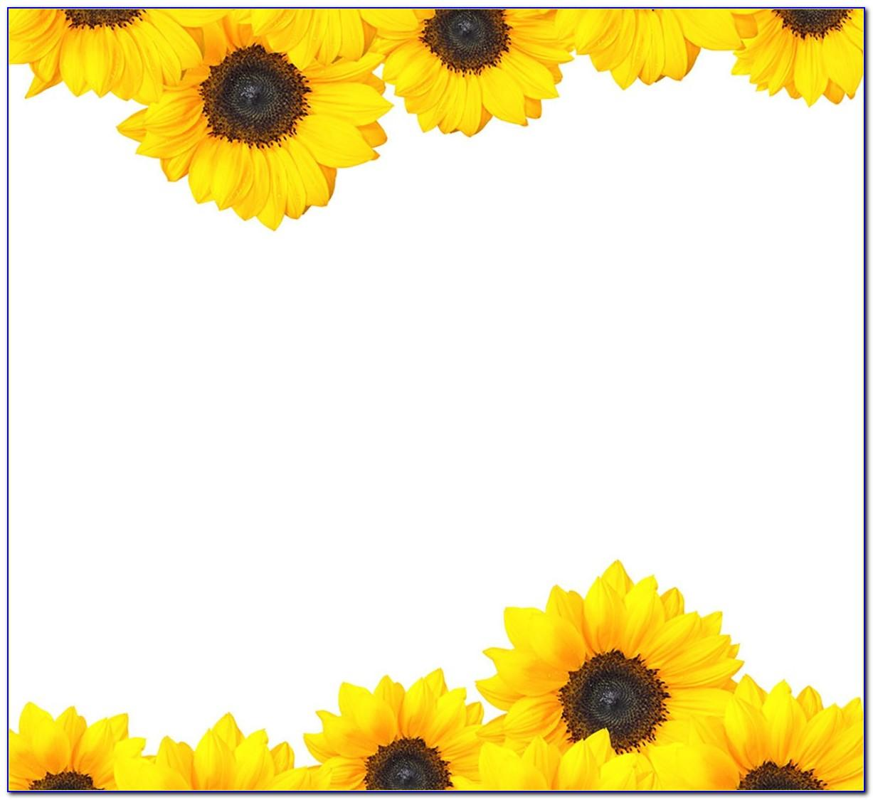 Sunflower Birthday Invitation Template Free