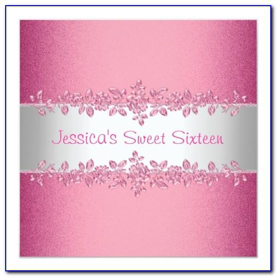 Sweet 16 Invitations Templates Free