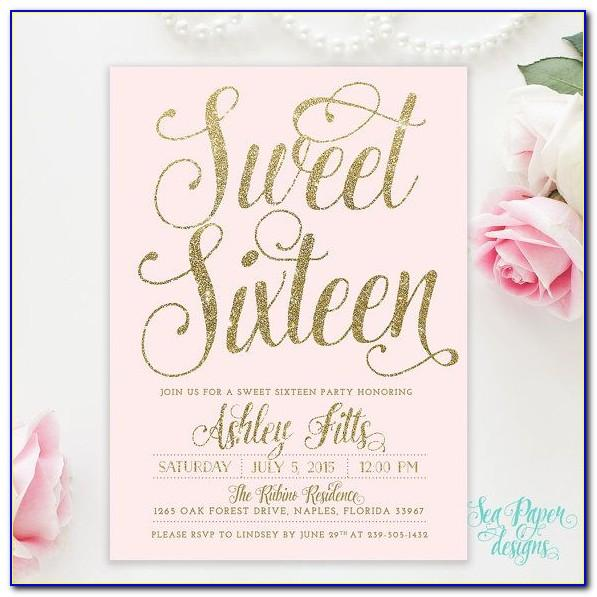 Sweet 16 Photo Invitation Cards