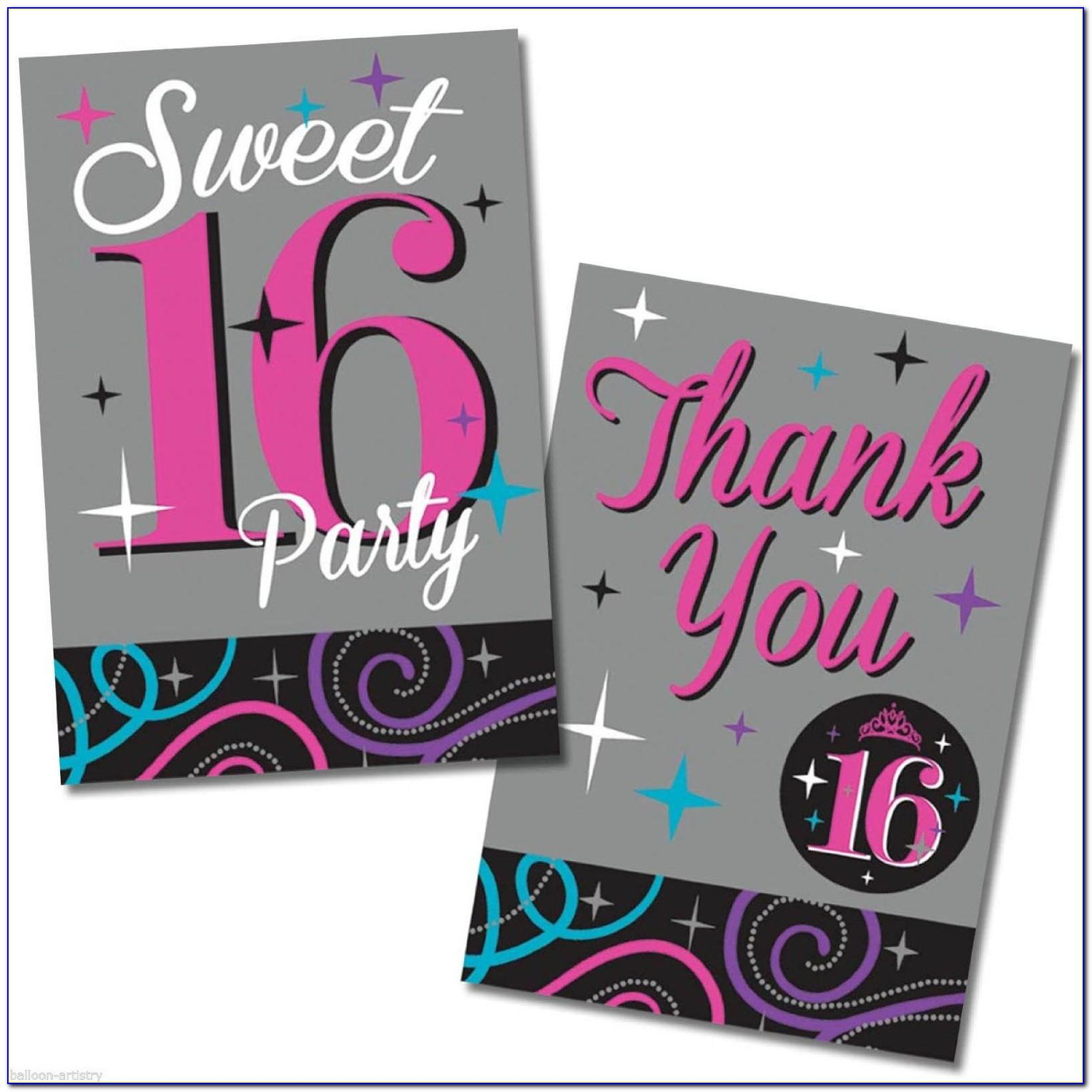 Sweet 16th Birthday Invitation Cards