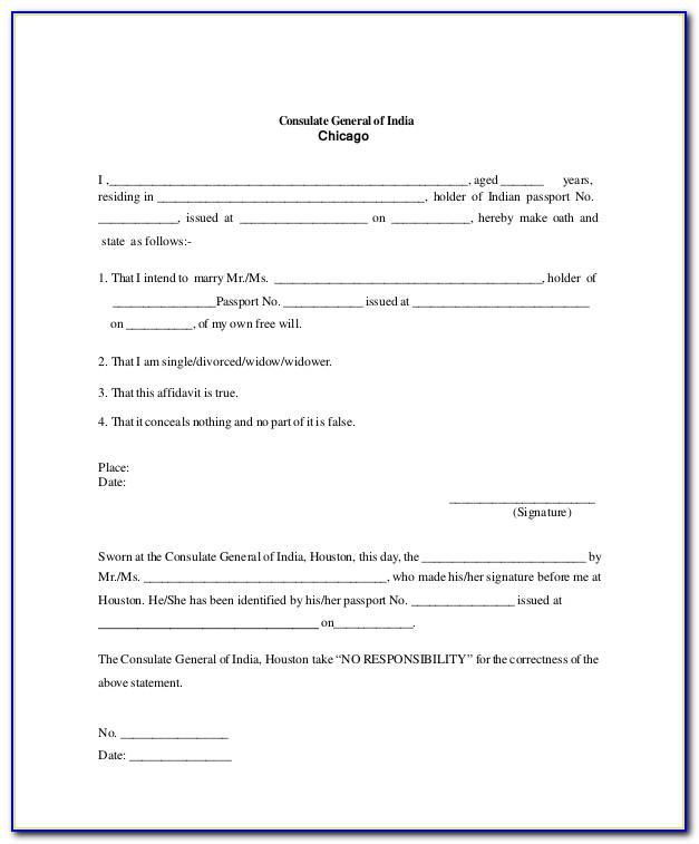 Sworn Affidavit Word Template