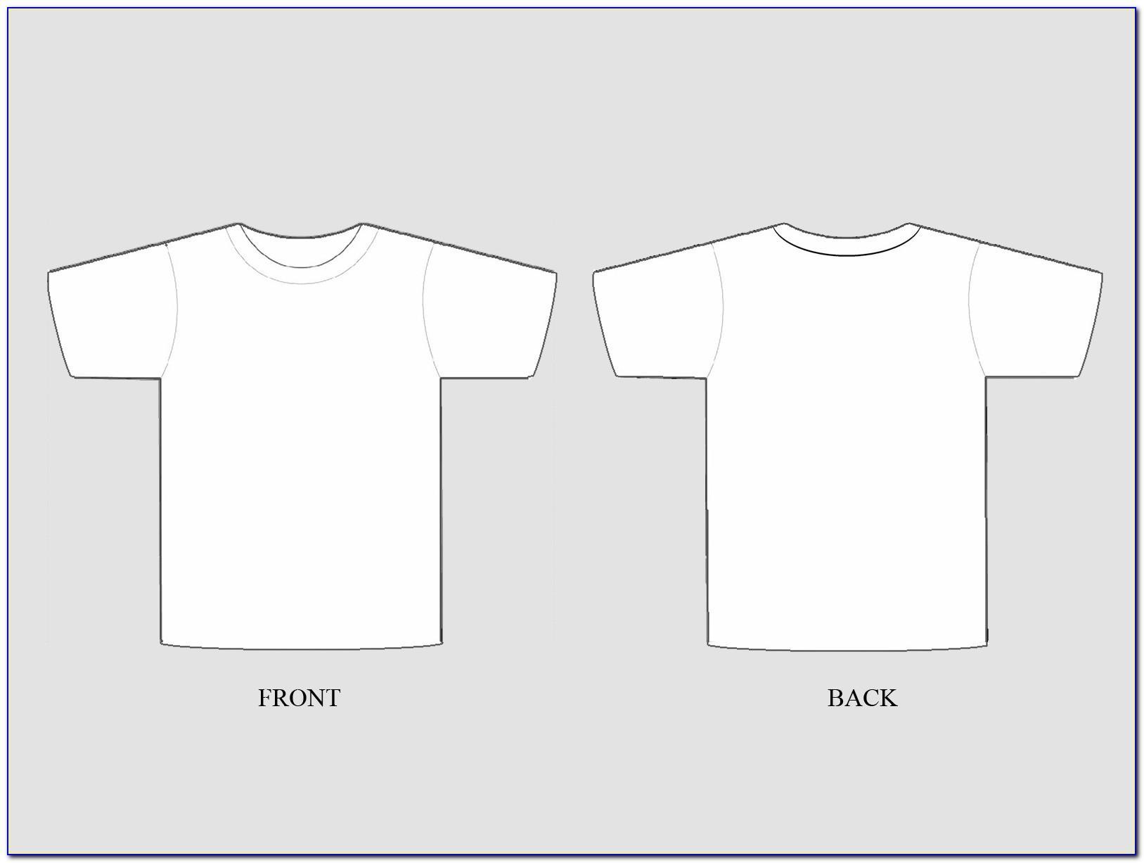 T Shirt Mockup Template Coreldraw