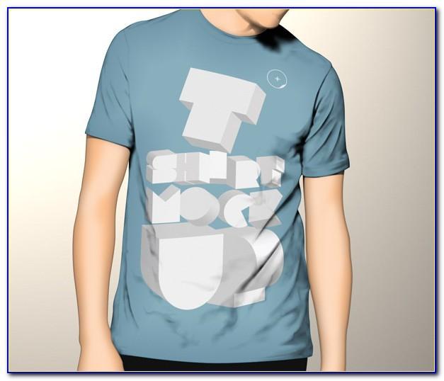 T Shirt Printing Mockup Psd