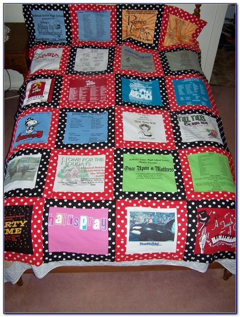 T Shirt Quilt Pattern Queen