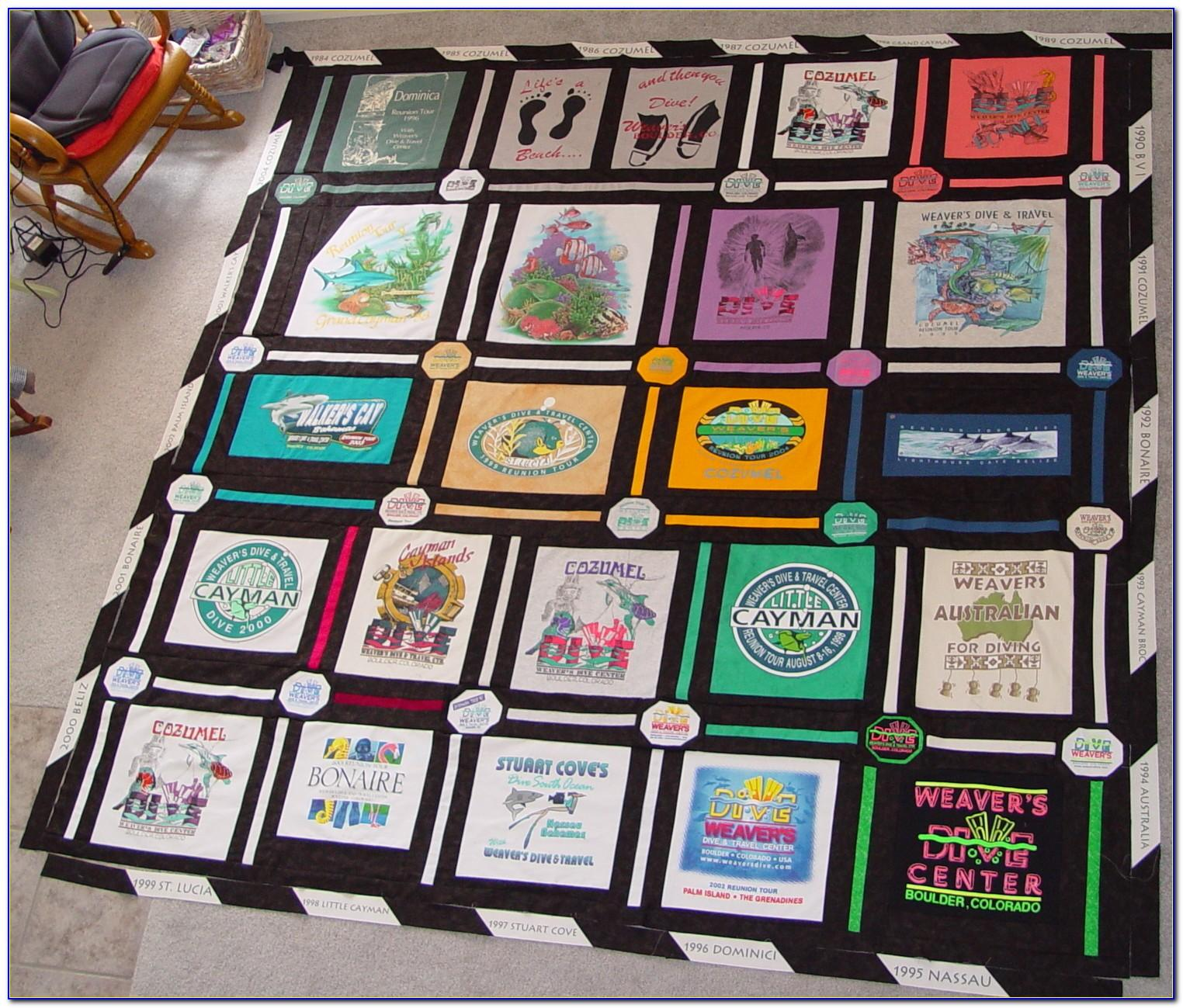 T Shirt Quilt Patterns For Beginners