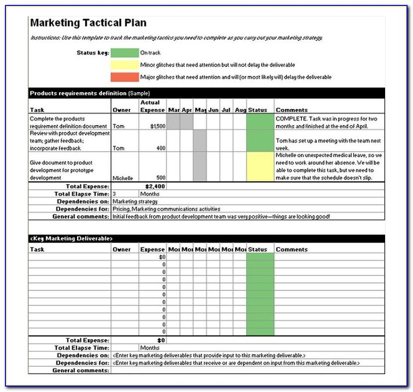 Tactical Marketing Plan Example
