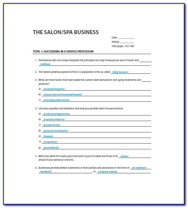 Tanning Salon Business Plan Template Free