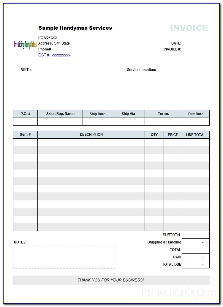 Tax Invoice Format In Word File