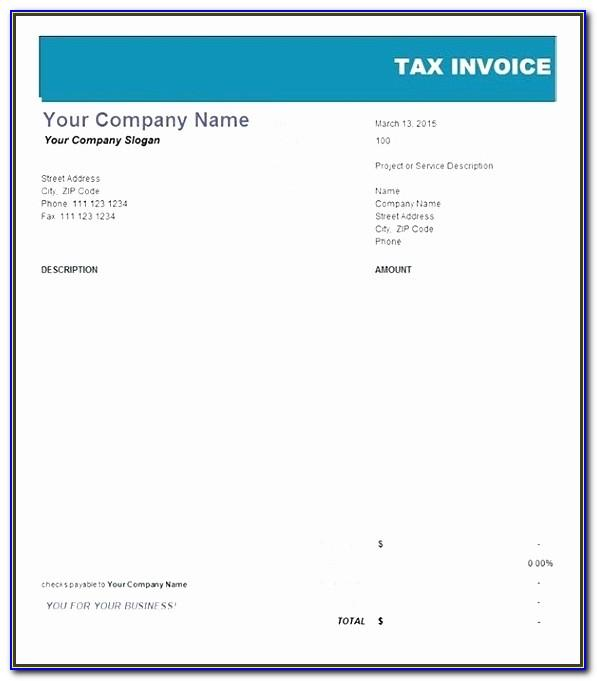 Tax Invoice Statement Template