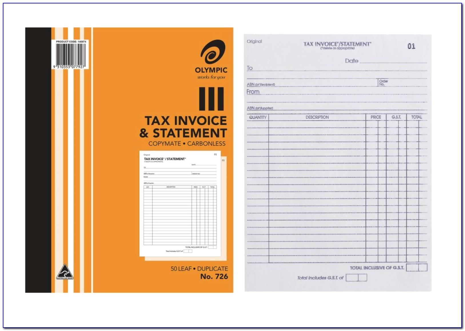 Tax Invoice Template Australia Excel Free