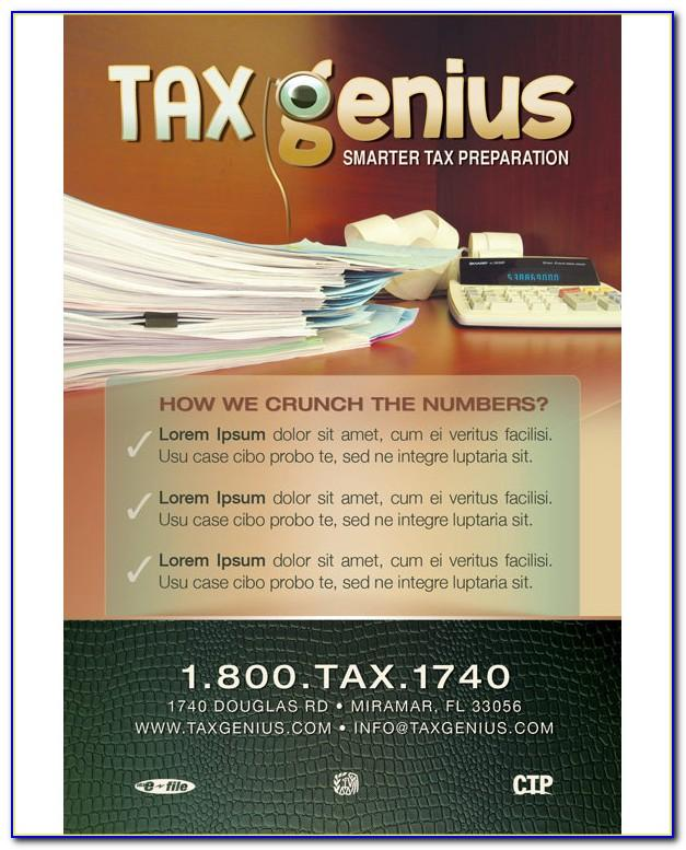 Tax Preparation Flyers Templates