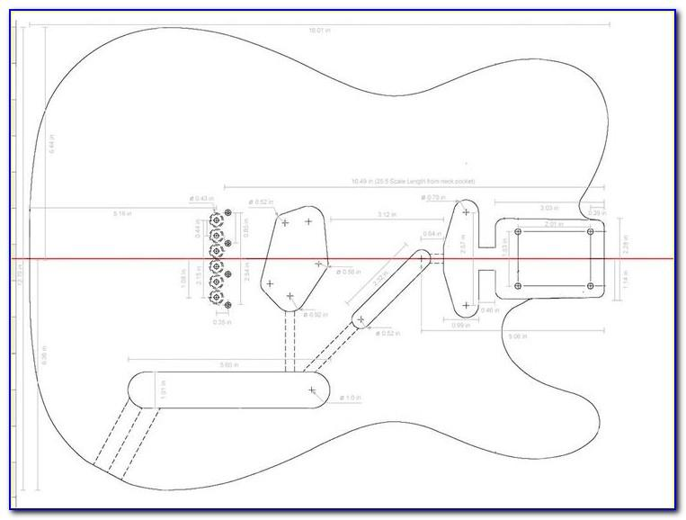 Telecaster Guitar Neck Template