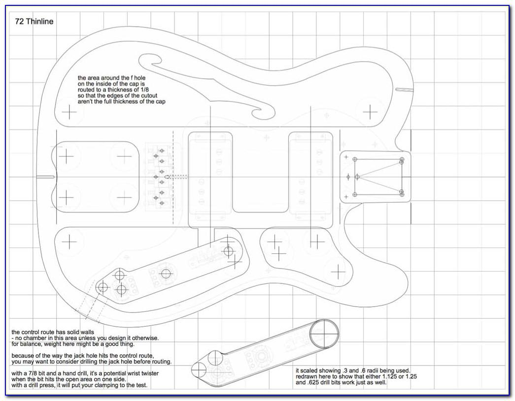 Telecaster Neck Headstock Template