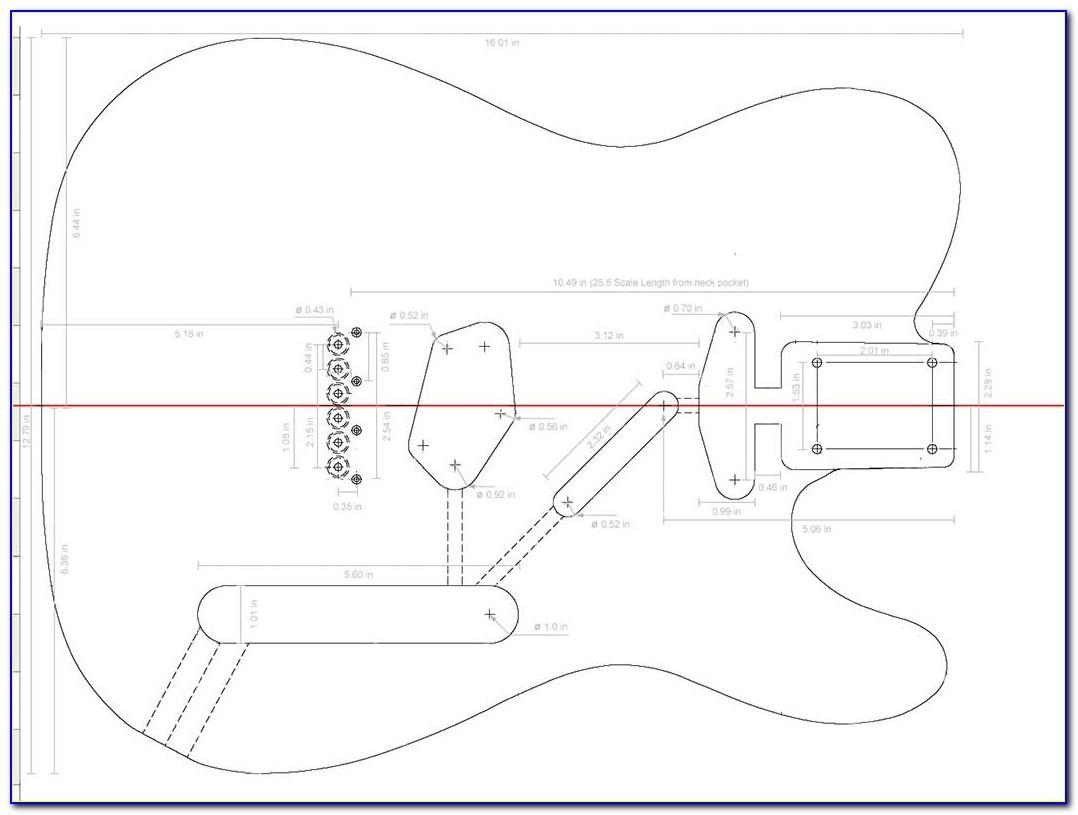 Telecaster Neck Routing Template