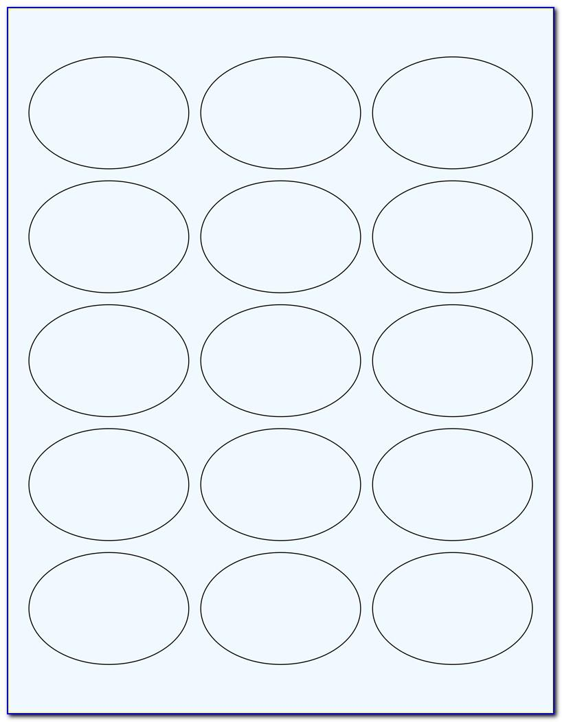 Template For 2 Circle Labels