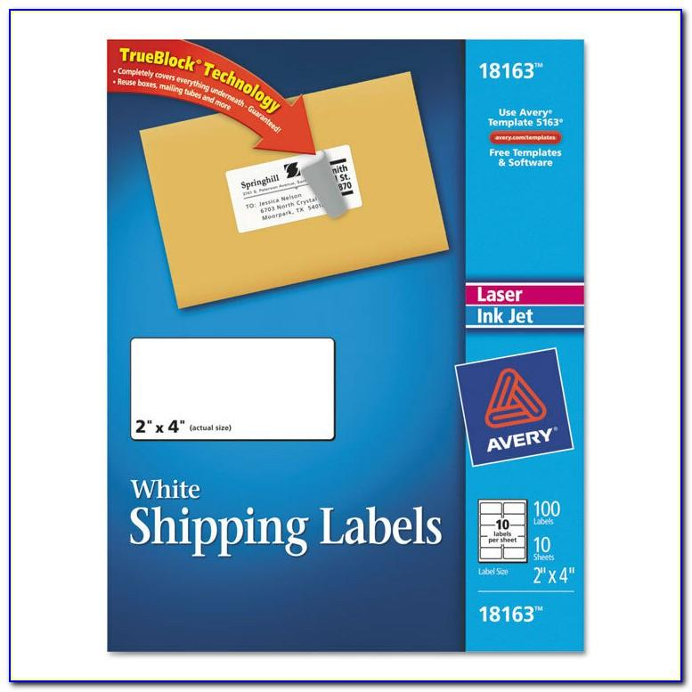 Template For 2 X4 Shipping Labels