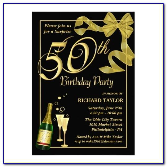 Template For 50 Th Birthday Invitations Free Printable