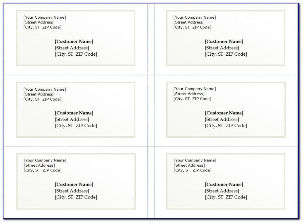 Template For Avery Address Labels 5161
