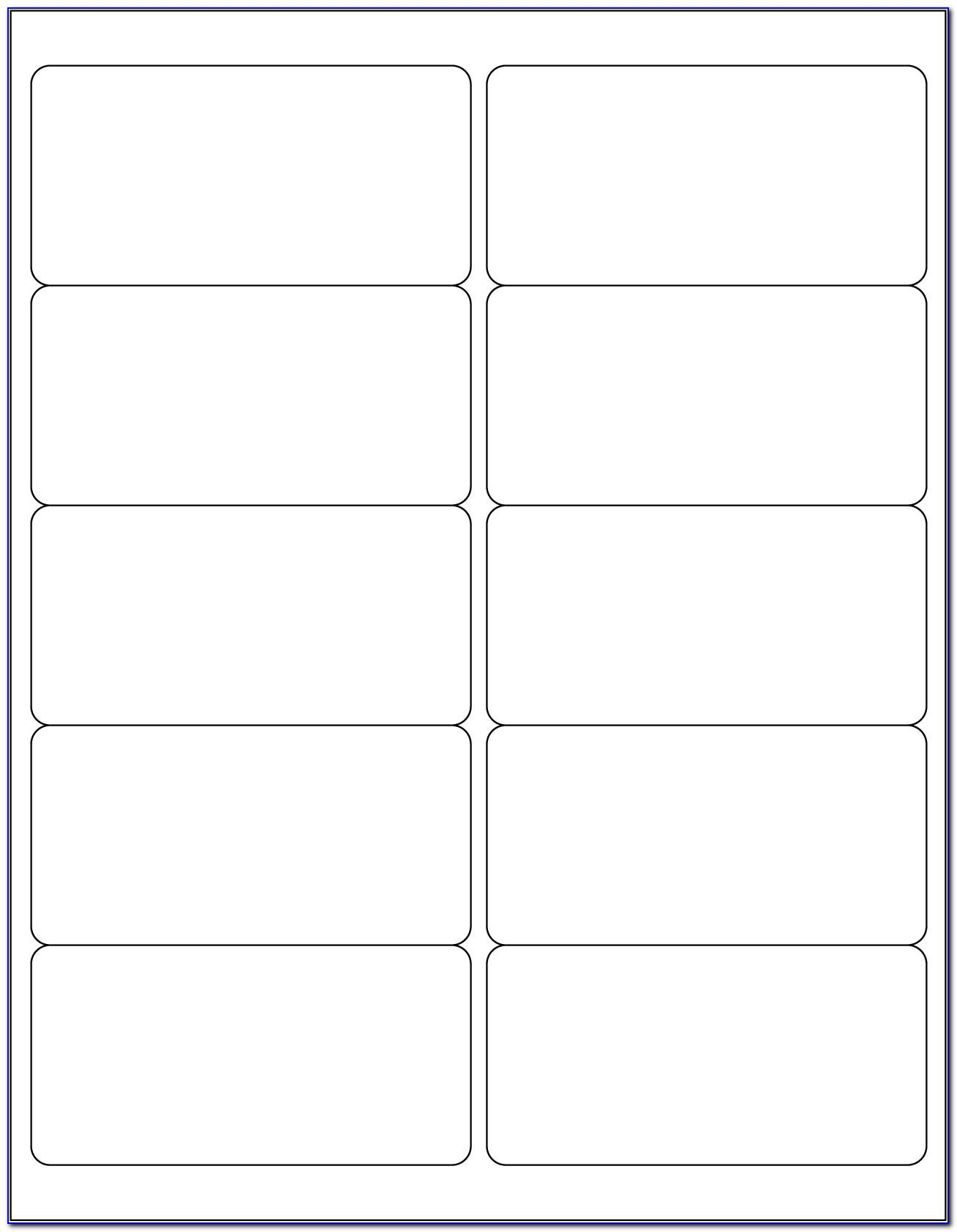 Template For Avery Labels 21 Per Sheet