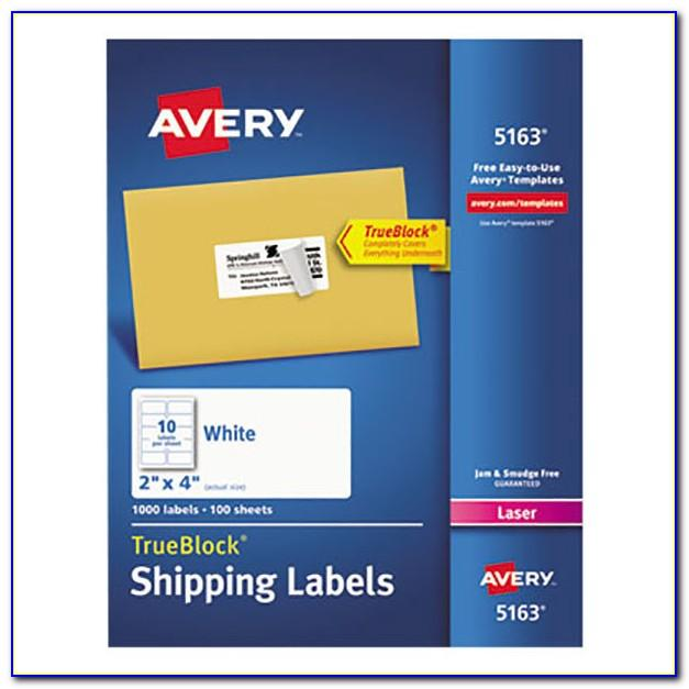 Template For Avery Shipping Labels 5163