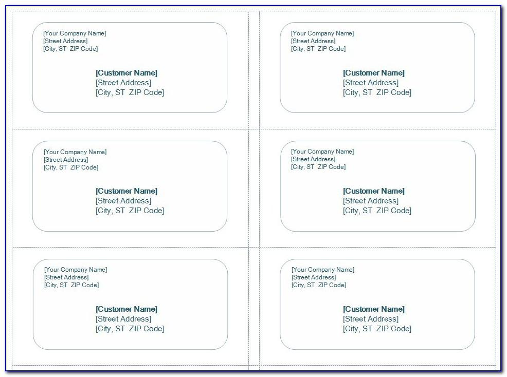 Template For Avery Shipping Labels 8164