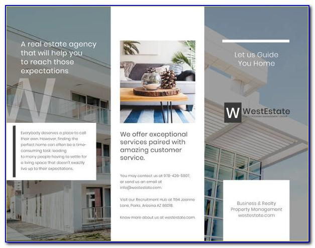 Template For Commercial Real Estate Brochure