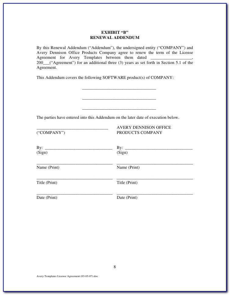 Template For Contractor Agreement