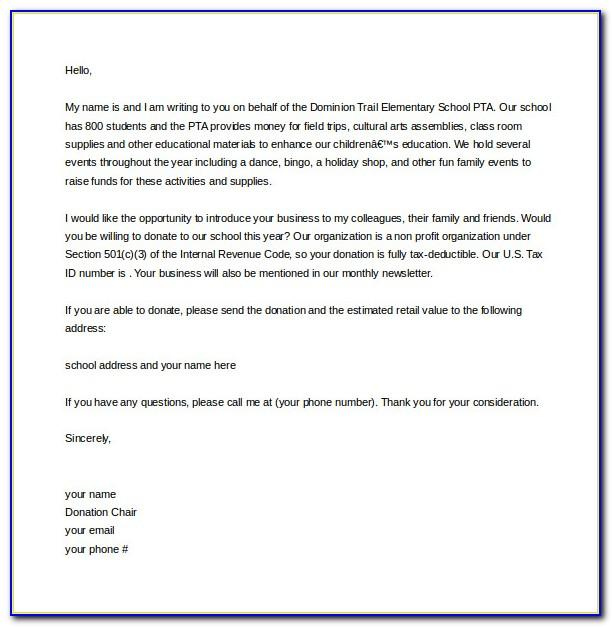 Template For Donation Letter Receipt