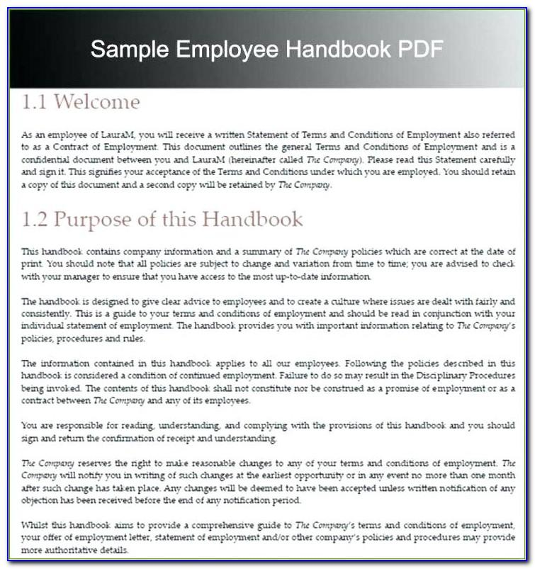 Template For Employee Policies
