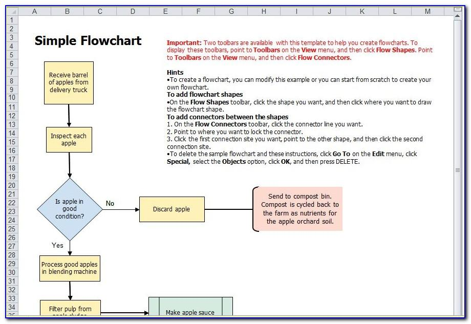 Template For Flowchart In Word