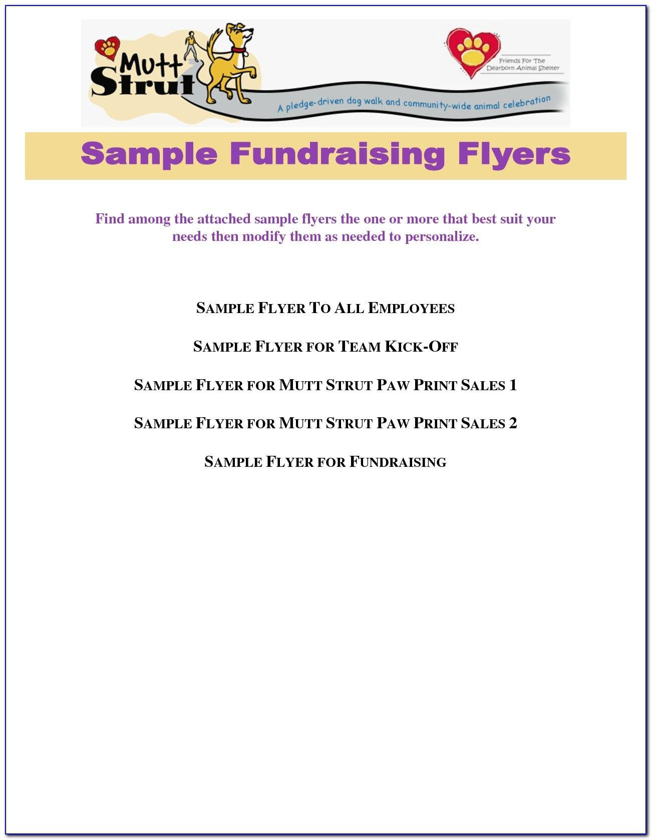Template For Fundraiser Invitation