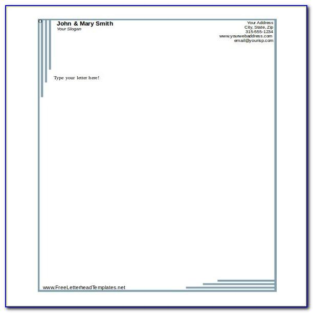 Template For Letterhead In Word