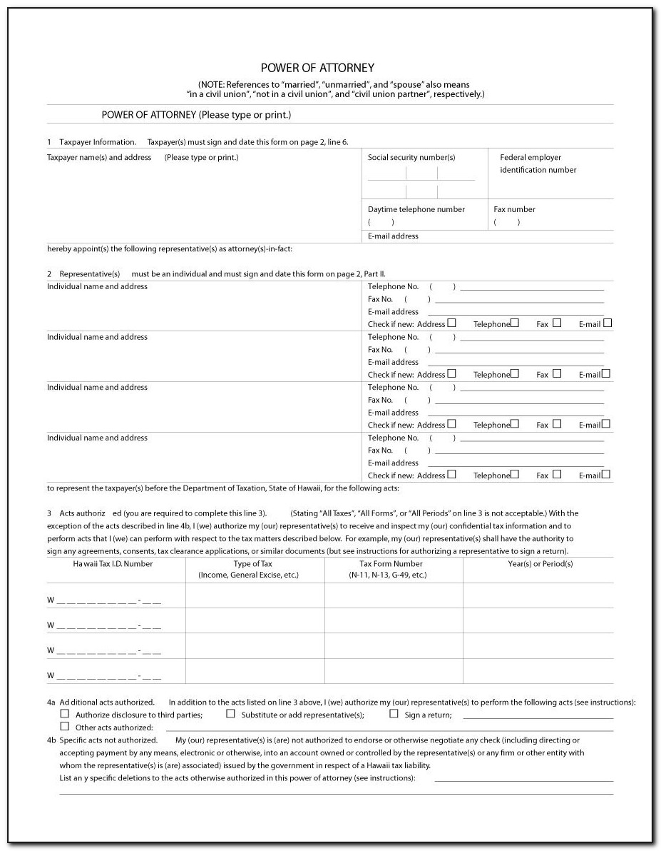 Template For Power Of Attorney For Property