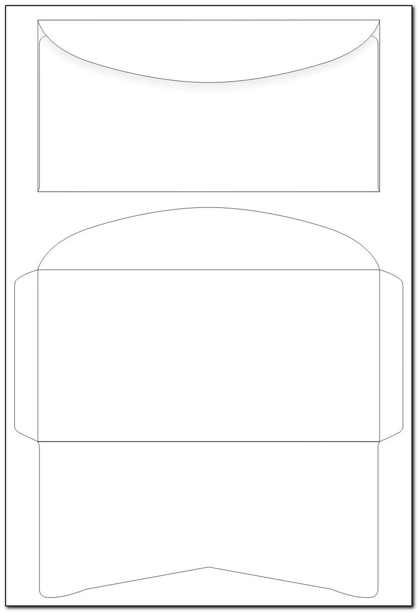 Template For Printing On Envelopes