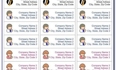 Template For Printing Return Address Labels