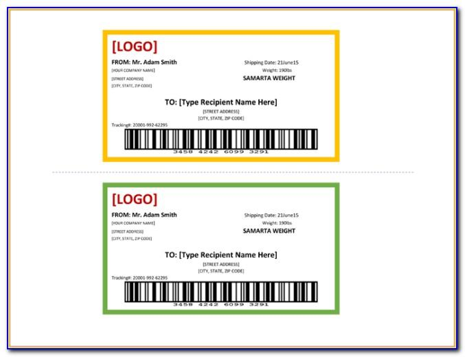 Template For Return Address Labels 60 Per Shee