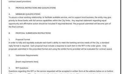 Template For Rfp Response