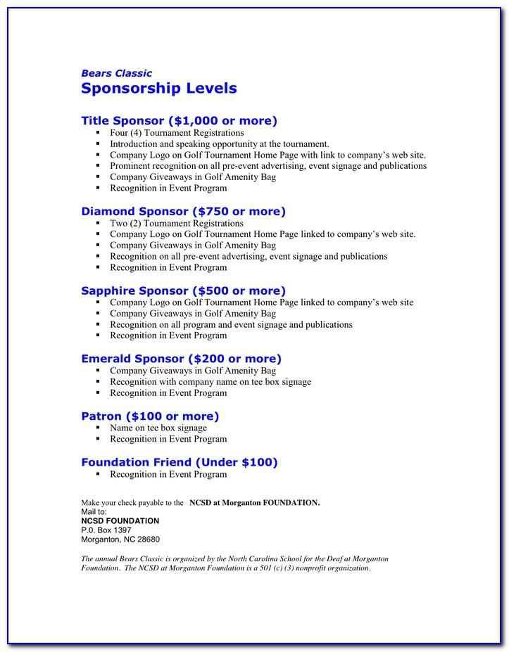 Template For Sponsorship Proposal Letter