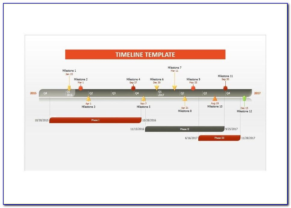 Template For Timeline In Powerpoint