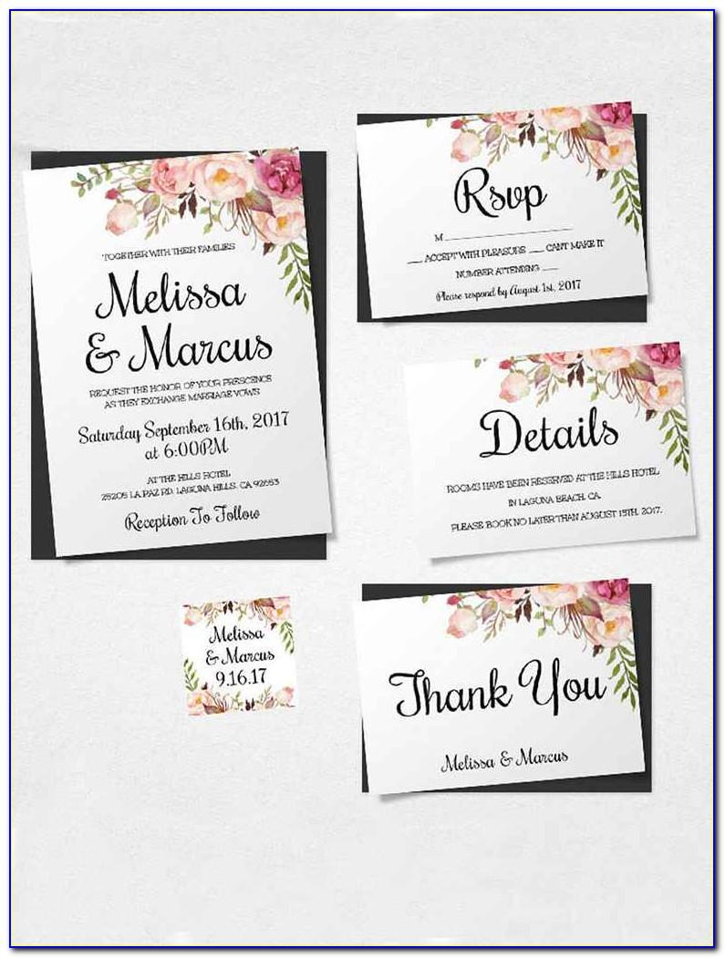 Template For Wedding Invitation Wording