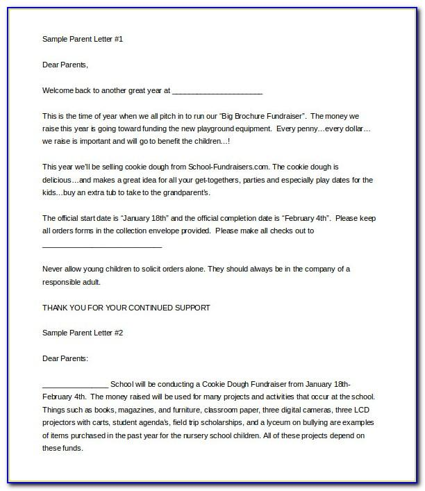 Template Fundraising Letters Donations