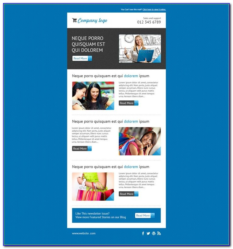 Template Newsletter Mailchimp Free