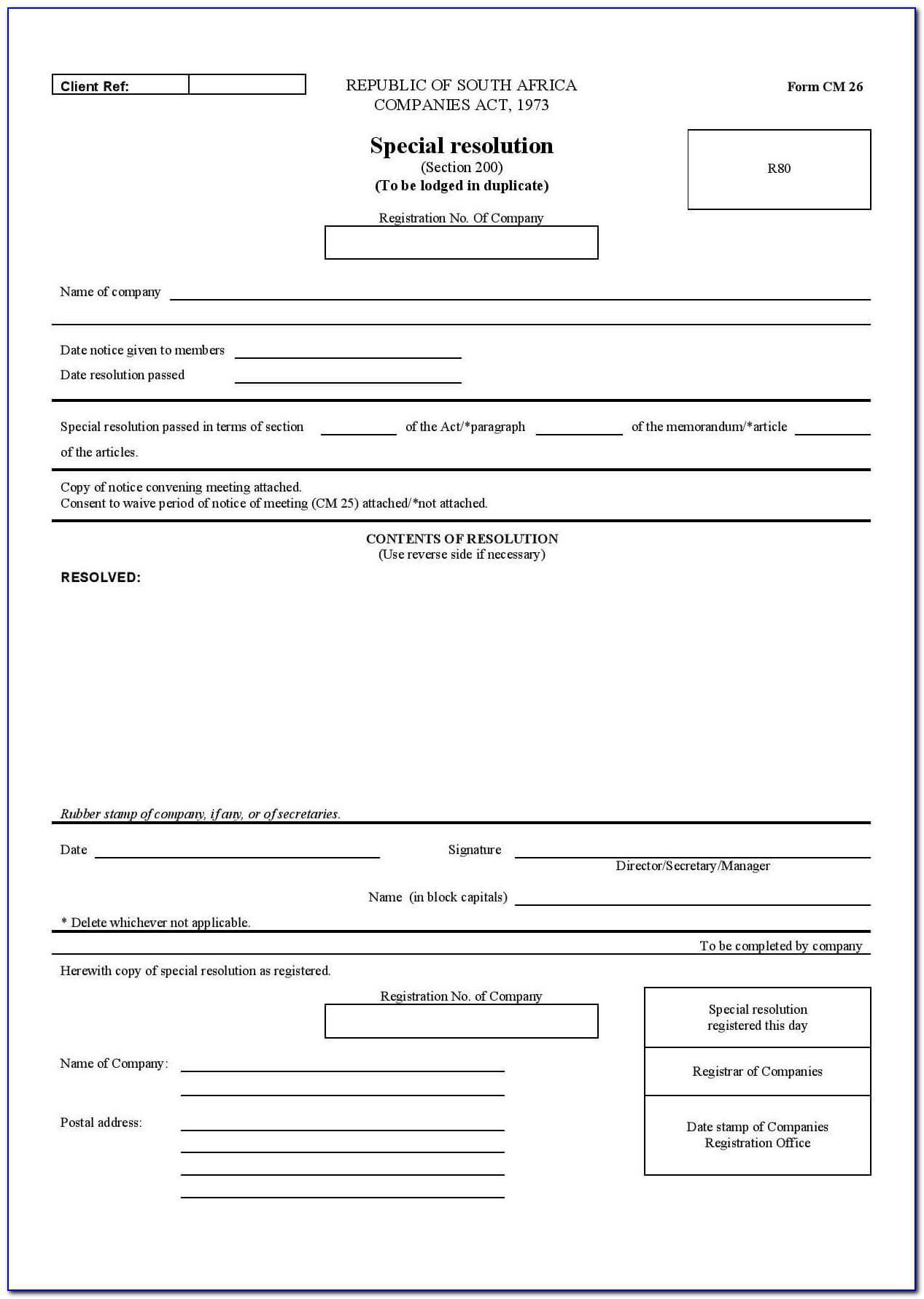 Template Resignation Letter Nz