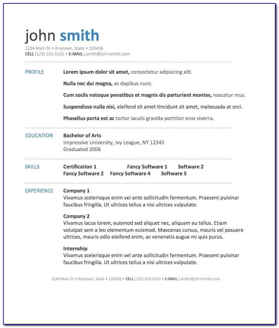 Template Resume Free Download Malaysia